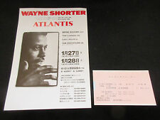 Wayne Shorter 1986 Japan Tour Flyer w Ticket Stub Jazz