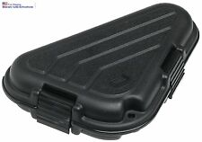 Plano Shaped hard Pistol Case Small Lock System Gun Storage Glock Ruger Black