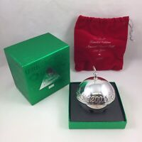 2001 Wallace Silver Plate Sleigh Bell Christmas Ornament w/ Original Box & Pouch