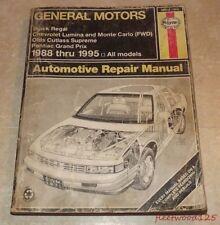 General Motors Haynes Repair Manual Book 1988 - 1995 / Car Truck