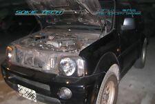 98-11 Suzuki Jimny SUV Engine Hood Gas Lift Shock Black Stainless Damper Kit