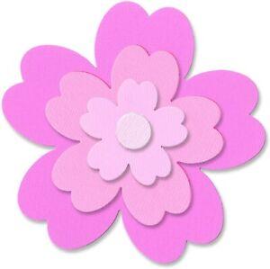 Sizzix Framelits Flowers #3 4pc set #657901 Retail $19.99 by Rachel Bright