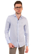 RRP €220 ARMANI COLLEZIONI Linen Shirt Size S Button Front Spread Collar