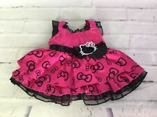 Build A Bear Workshop Hello Kitty Fashion Girl Clothes Clothing Pink Black Dress