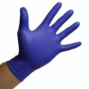 Hyioammb 50 Pairs Nitrile Disposable Gloves Mechanic Nitrile Gloves Exam Gloves Powder-Free Glove for Cleaning,Industrial