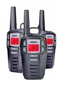 UNIDEN Long Range 30 Mile GMR FRS 22 Channel Two Way Radio Walkie Talkies 3 pack