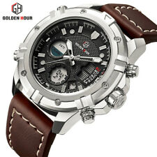 Excellent Quality! Mens Dual time Zone - Analog & Digital Watch. Ships from USA