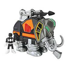 Imaginext CHJ07 Power Rangers Black Ranger and Mastodon Zord Figure