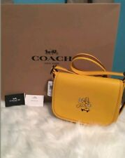 NWT Coach X Disney F59359 Patricia Saddle 23 In Glove Calf Leather With Mickey