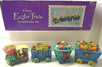 Hopalong Hollow Deluxe Easter Collectible 4 Piece Easter Train Candleholder Set
