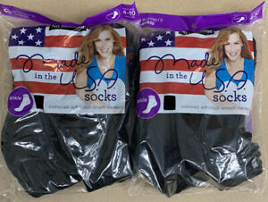 12-Pair Women's No Nonsense Cushioned Ankle Socks, Black, Size 4-10