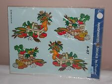 Vtg 1986 Decoral Handpainted Waterslide Decals Fresh Veggies A-87 New Old Stock