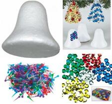 Childrens Pinflair Sequin Craft Kit Make Your Own Christmas Bell Decorations x 5