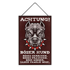 Achtung Böser Hund 20 x 30 cm Holz-Schild 8 mm Geschenk Hunde-Besitzer Lustig