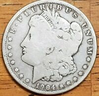 1904-S Morgan Dollar Circulated **** Check It Out!  KM# 110 #AA308-11