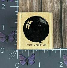 Stampin' Up! Balloon Shape Rubber Stamp 2001 Wood Mount #AA100