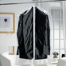 3 Strong Clear See Through Moth Proof Plastic Suit Clothes Garment Covers Bags