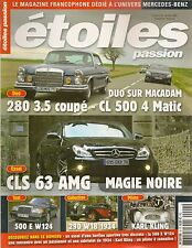 ETOILES PASSION 4 MERCEDES CLS 63 AMG 500 E W124 1991 290 CABRIOLET A W18 1934