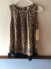 Jockey Person to Person Sleeveless Zig Zag Tank Blouse Top Size XS New With Tags