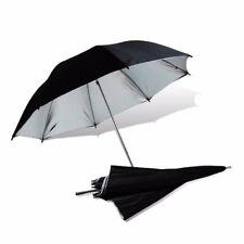 "2 x 40"" Photo Studio Black Silver Reflector Umbrella Video Flash Reflective"