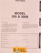 Rivet 500 and 500B, Rivet Setting Machine, Service Manual