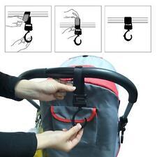 2Pcs Multi Purpose Baby Pram Stroller Pushchair Swivel Hanger Hooks - LD