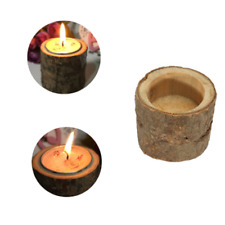 Rustic Wooden Candle Tea Light Holder Stable Decor Wedding Party Candlestick