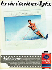 Publicité Advertising 097  1983  Agfa film pellicule Agfachrome 200  ski nautiqu