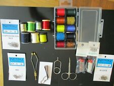 fly tying starter kit,tools, threads, yarns, flosses, partridge hooks and more