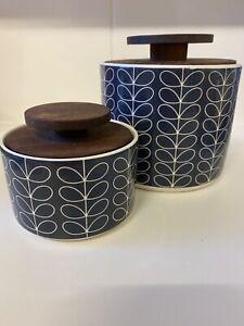 orla kiely navy blue Canisters Jars Pots Kitchen Storage