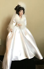 "The Ashton Drake Galleries ""Winter Romance "" Porcelain bride doll 20"" tall"