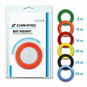 Champro Sports Baseball Softball Bat Weight Donut - Strength Training - 8-24 oz.