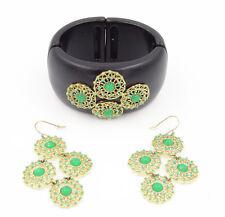 New Stella & Dot Stretch Medallion Bracelet & Garden Party Earrings $123 Value