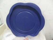"NEW Tupperware OPEN HOUSE 16"" Lazy Susan Carousel SAPPHIRE BLUE Tray Platter"