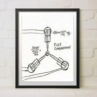 Back to the Future Flux Capacitor Diagram Movie Trilogy Prop Gift Time Machine