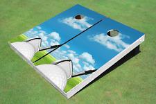 Golf Ball Square Up Custom Cornhole Board