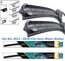 """KIA Rio 2011 2012 2013 2014 2015 2016 Delantero Par Plano Aero Wiper Blades 26"""" 16"""""""