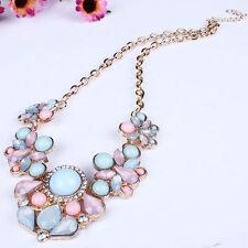 Charm Women Pendant Chain Crystal Choker Chunky Statement Bib Necklace Gift