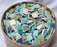 Vintage Lot of 6+ Pounds Blue Ceramic Tile Shades of Blue Backsplash Floor mv