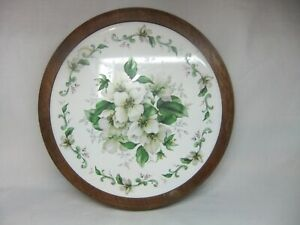 Vintage Hand Turned & Crafted Floral Pan Teapot Stand Trivet By David Thorne