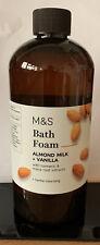 M&S BATH FOAM ALMOND MILK & VANILLA 500ml BOTTLE (VEGAN)