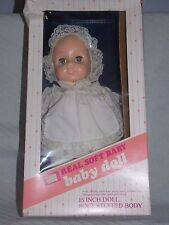 "New in damaged box Vintage Sears Real Soft Baby 15"" Baby Doll 49_31623"