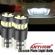 LASFlT T10 LED License Plate Light Bulbs 6000K Bright White 168 2825 194 2PCS