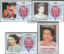 Tuvalu-Funafuti 71-74 (kompl.Ausg.) postfrisch 1986 Geburtstag Königin Elisabeth