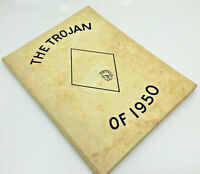 Troy Rural Yearbook High School Kansas The Trojan Seniors 1950 Yellow Annual Wht