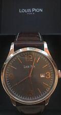 Men's Smart Dress Watch - Brown Leather Strap - Louis Pion RARE