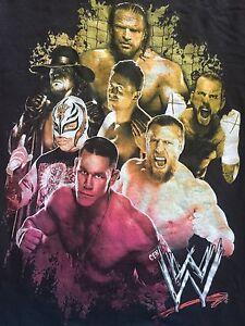 Org. WWE Wrestling Mania Undertaker, John Sienna Triple HHH Men's Rare T-shirt M