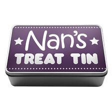 Purple Nan's Treat Tin biscuits chocolate gift idea Metal Storage Tin Box A012