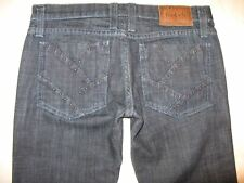 Frankie B Jeans Low Bootcut  Dark Blue Wash Copper Bead Pockets Sz 2