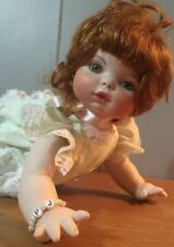 Porcelain Peggy Jean Caudill Doll, Red Hair, Crawling, 12""